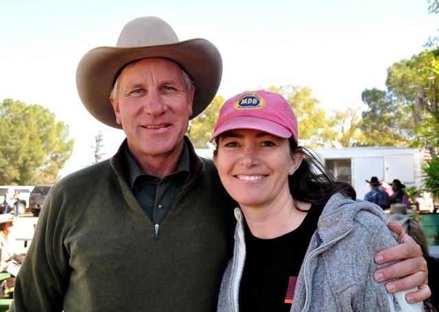 Buck Brannaman with author Michaela Haas