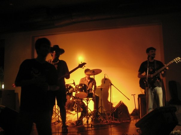 "That's me on the right playing live at a little club in the suburbs of Mumbai with the now-defunct ""Black Pumpkins""."