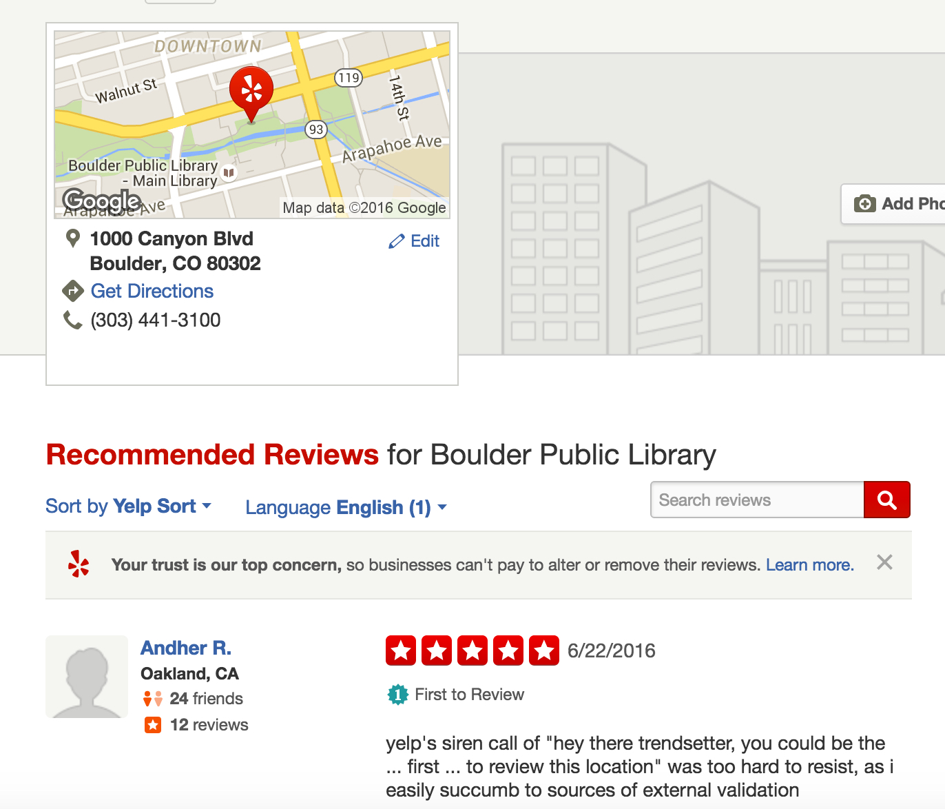 boulder public library, 5 stars