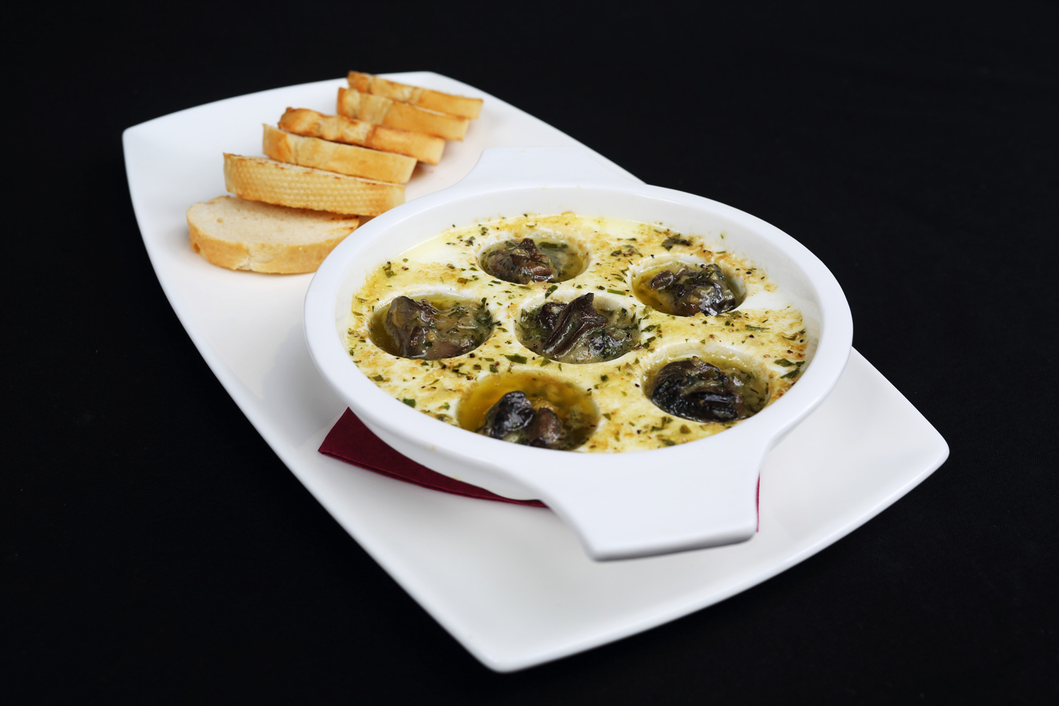 Escargots a la Bourguignonne - Angry Moon Cafe and Wine Bar, Palm Beach Gardens, FL 33410