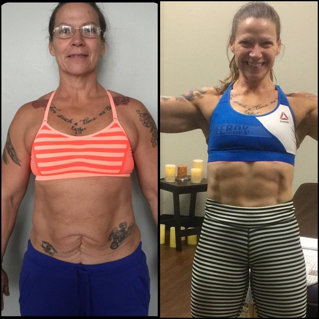Donna M - Approximately one year of weight loss and competition CrossFit training which resulted in an invitation to the 2016 CrossFit Games!