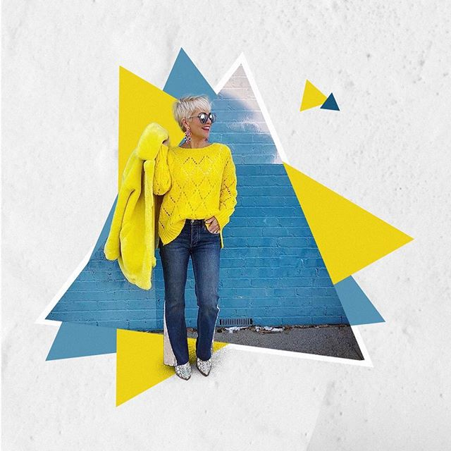 Bright colors. Fun patterns. Honesty. @chicover50 inspires me everyday with those things and more. Head to my latest post (link in bio) to find out more about her amazing mission and fashion sense. #chicover50 #choosejoy #amidstlife ⠀ .⠀ .⠀ .⠀ .⠀ #yellowaesthetic #darlingmoment #darlingdaily #alliseeispretty #visualcrush #acolorstory 