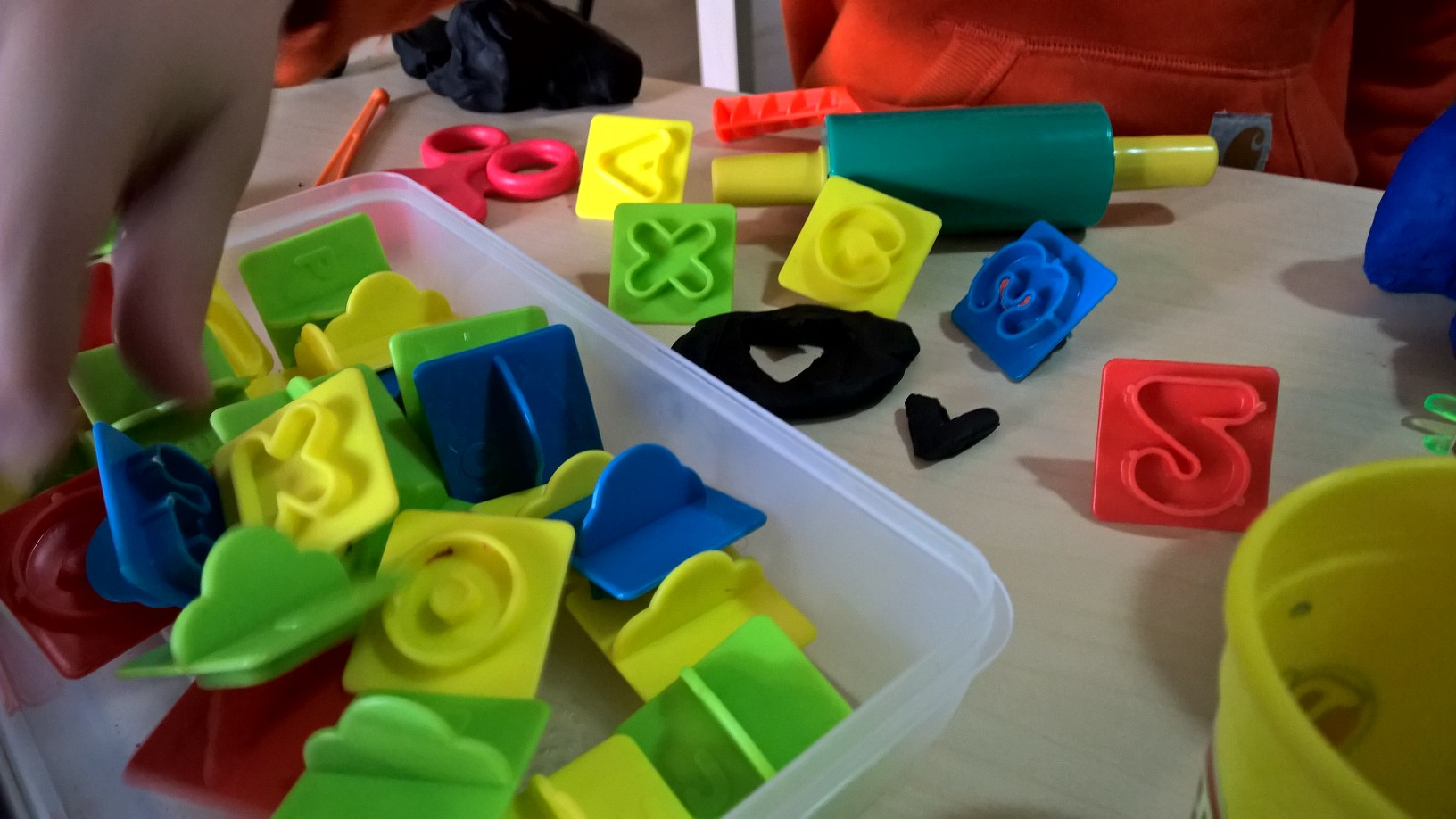 Alphabet Stamps for our Play Dough