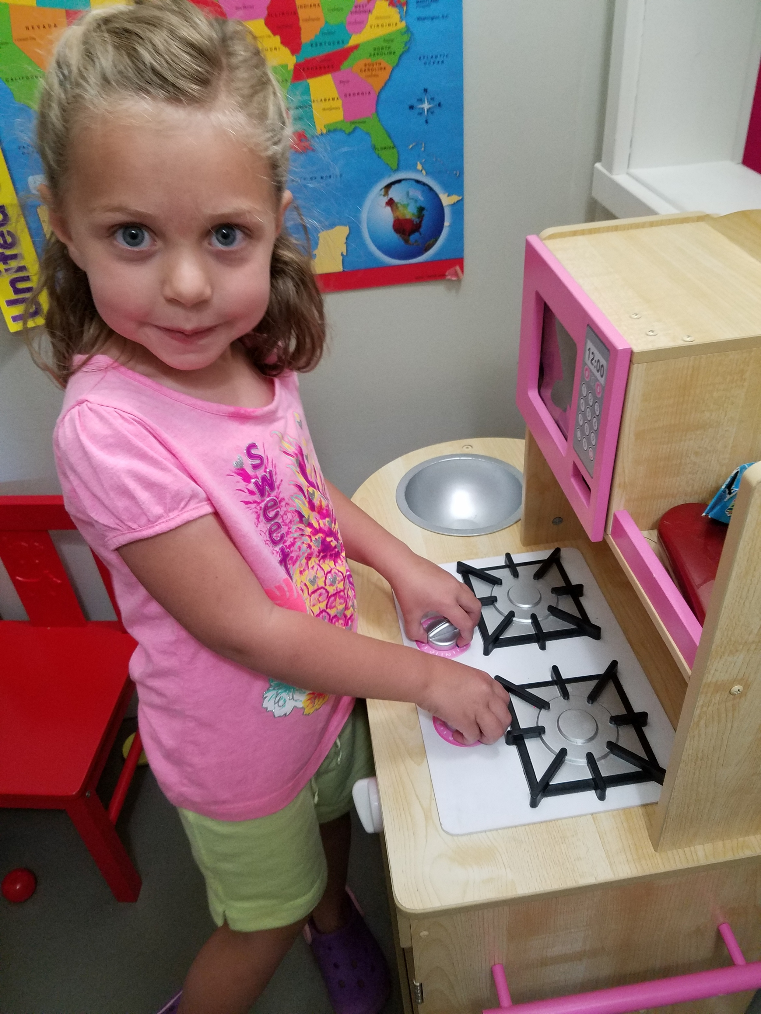 The Kitchen was out in Our Dramatic Play Center as it is a favorite!