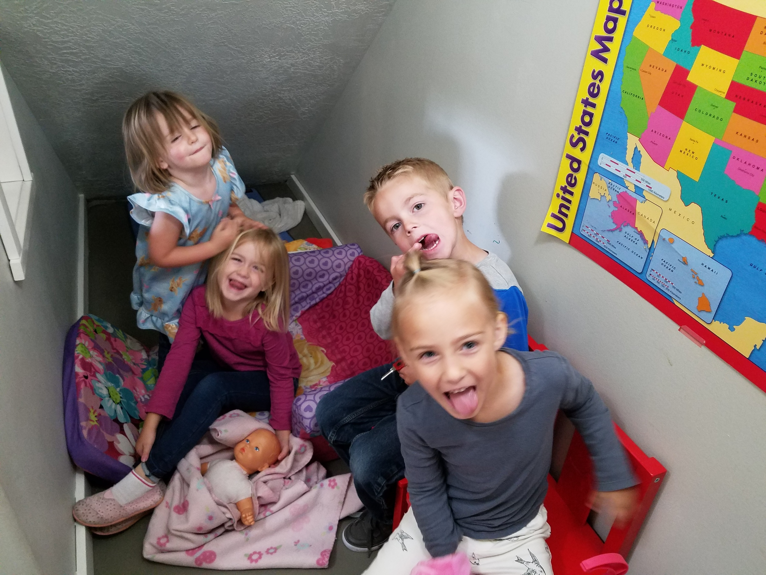 Our Dramatic Play Center was set up as a little house with lots of babies to care for!