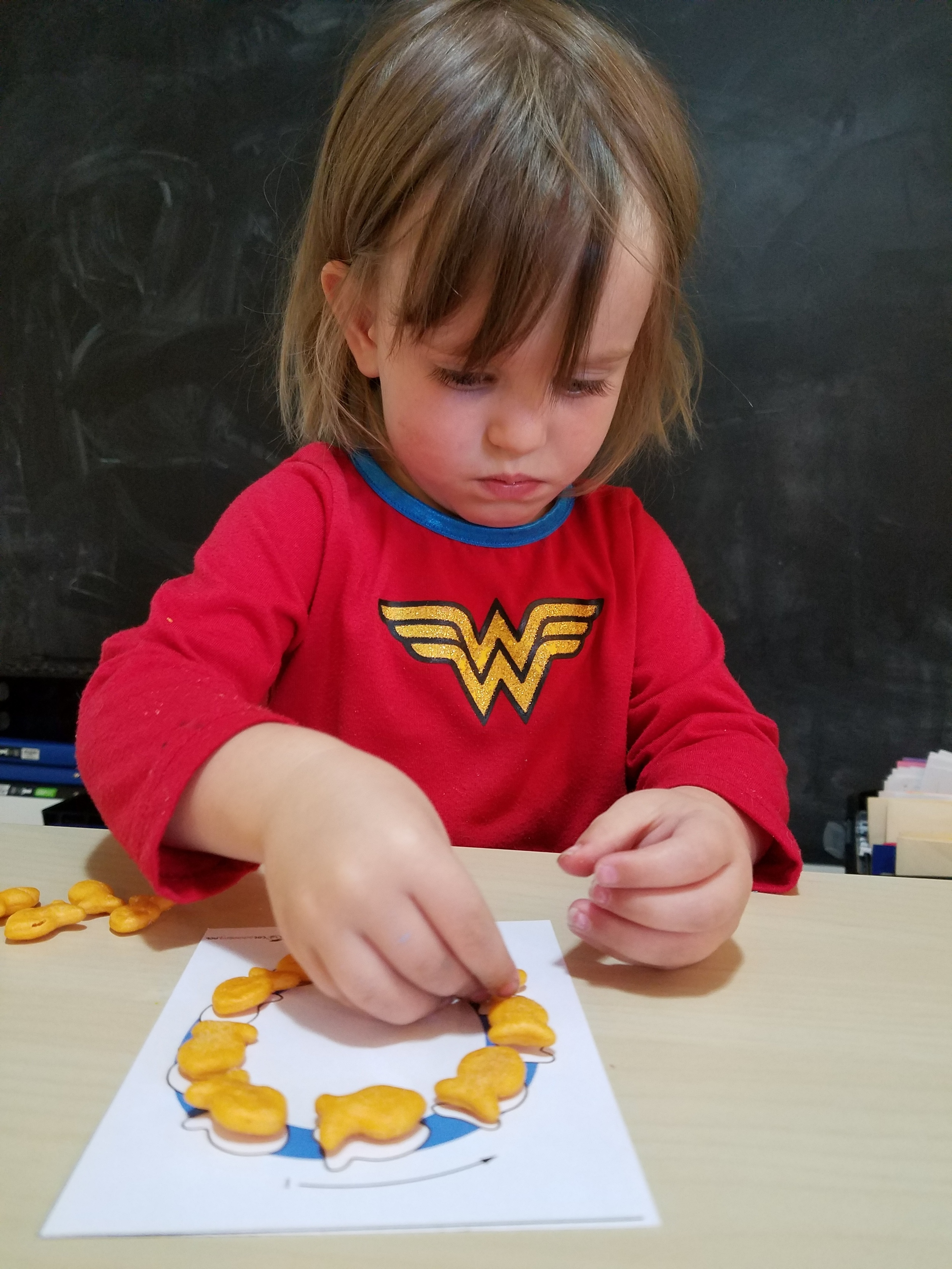 Making letters at snack time!