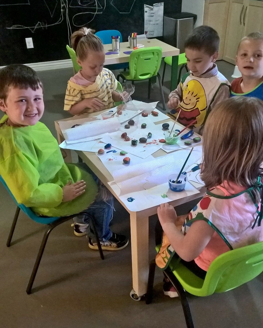 Painting Rocks for the Rock Garden
