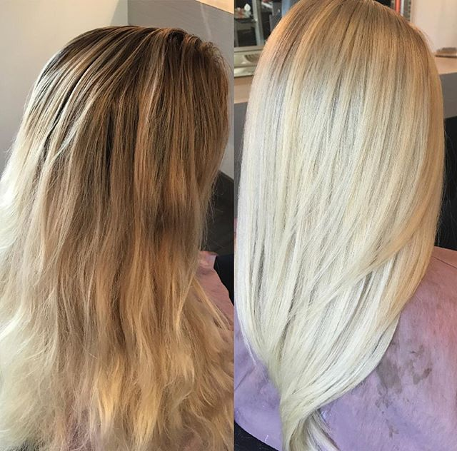 Before & After by Kristin Brown #blondesandblowouts #dallasblonde #dallasblondes #dallas #blonde