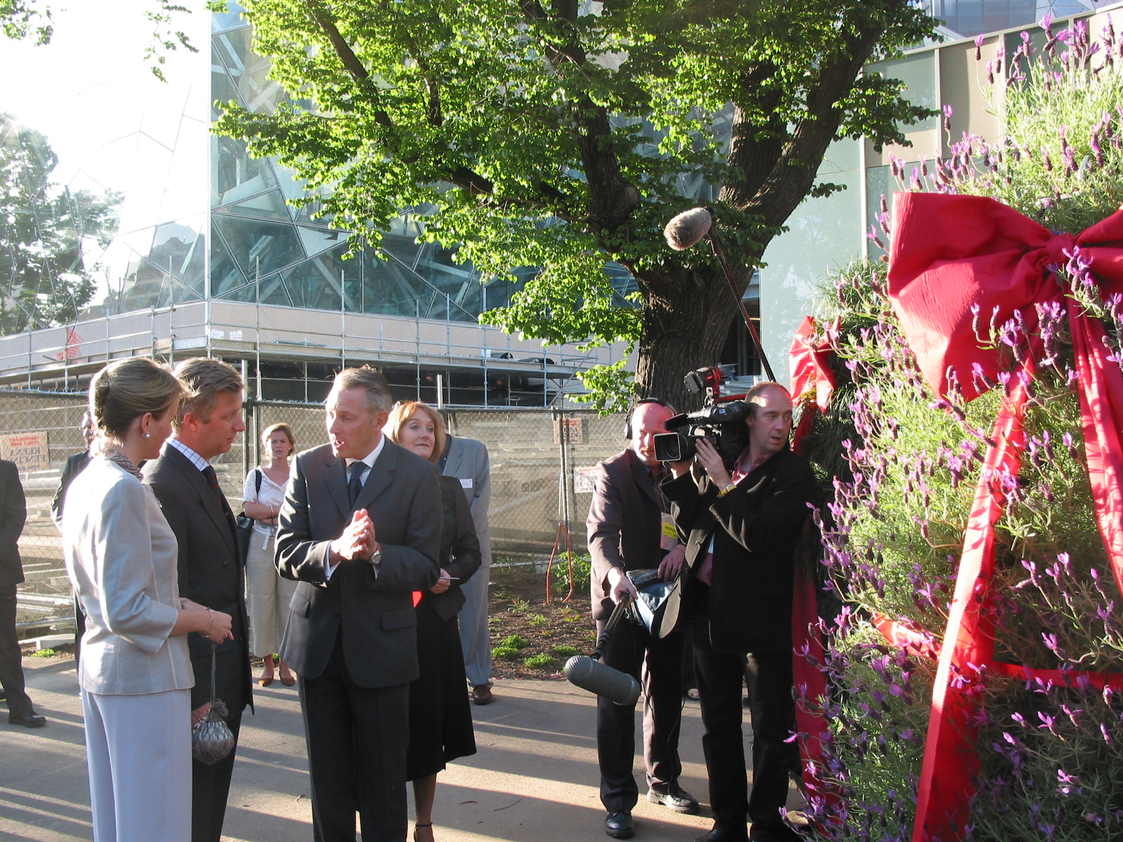 Prince Phillippe of Belgium launches Garsy towers at Federation Square