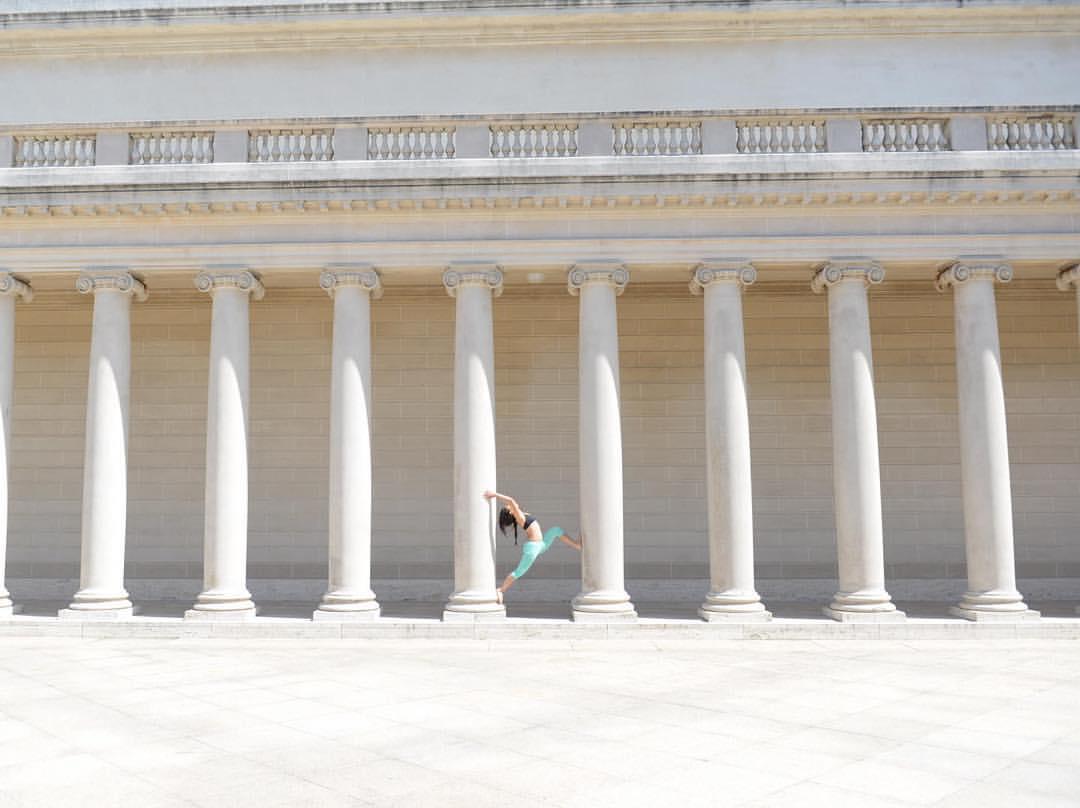 California Palace @legionofhonor #yoga #asana #warriorpose #yogalove #california