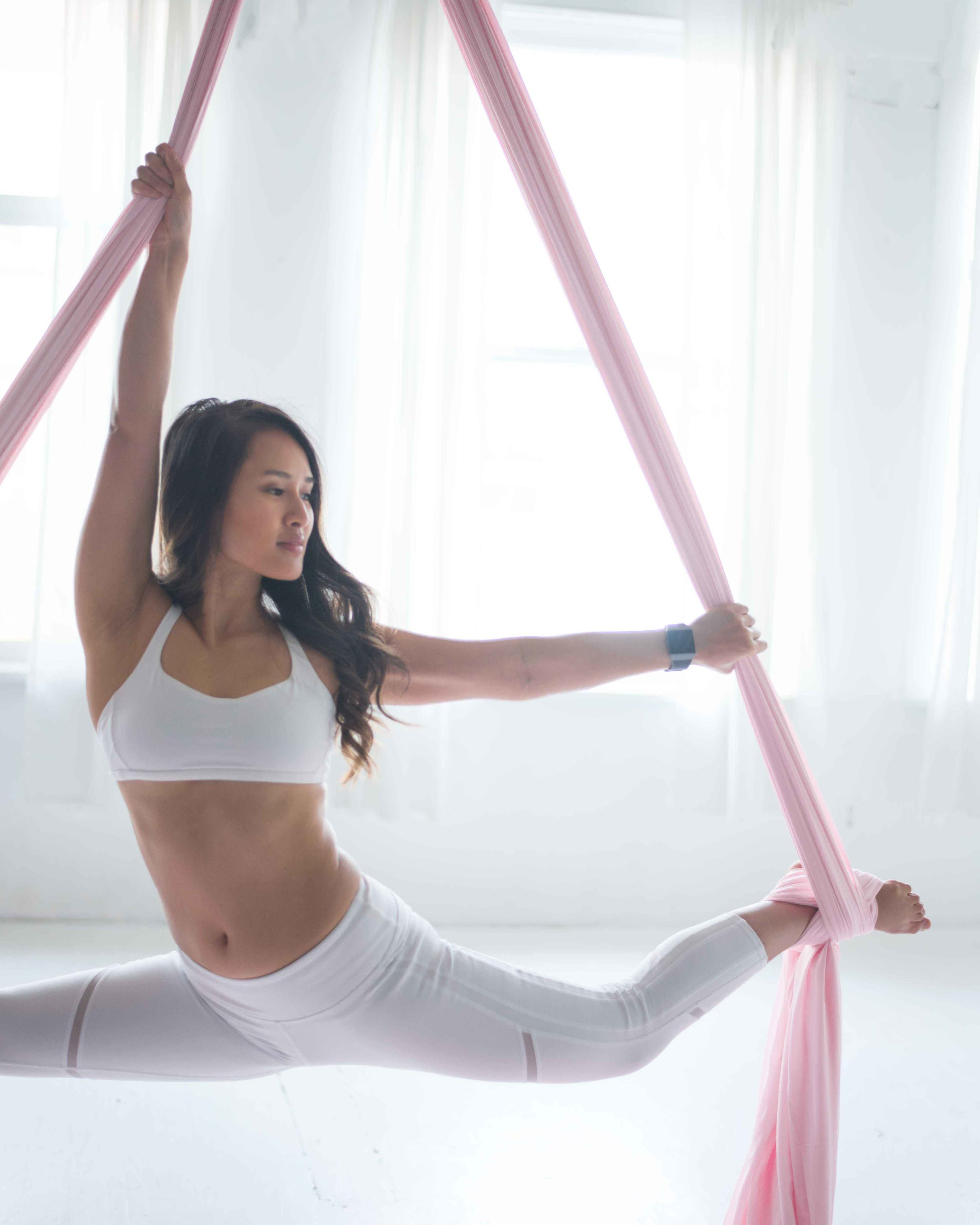 Cam Lee Yoga Vancouver Aerial Silks Splits Alo Yoga