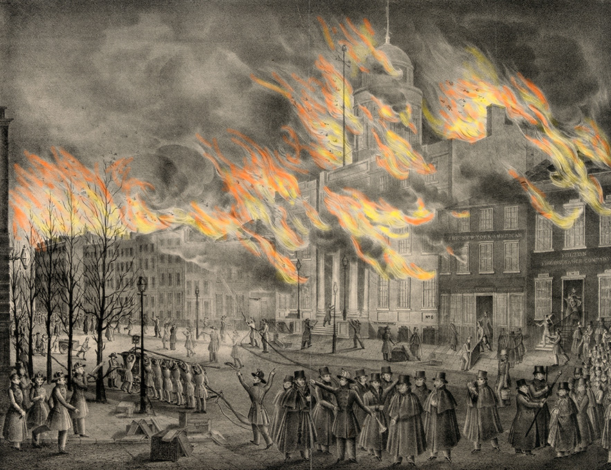Harper's Weekly's version of New York's Great Fire of 1835.