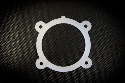 Torque Solution Throttle Body Spacer Silver for 10-12 Hyundai Genesis Coupe 2.0T