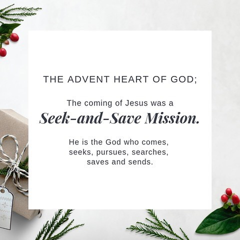 The Son of Man came to seek and save the lost. Luke 19:10 As my Father sent me, even so I am sending you. John 20:21 #firstsundayinadvent #advent2018 #visionwoman