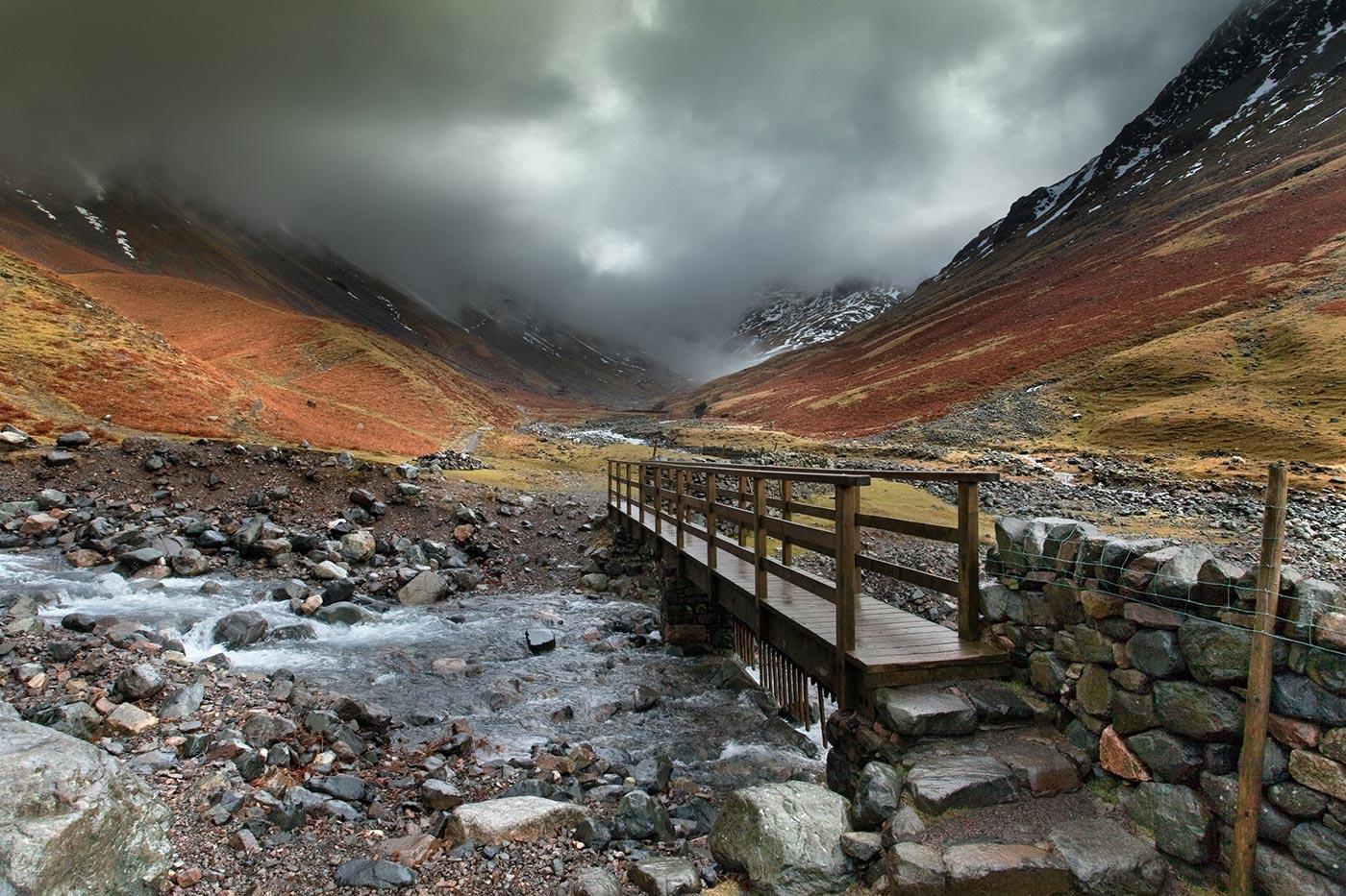 Gable-Beck-flows-under-the-bridge-as-the-way-to-Borrowdale-looks-bleak!.jpg
