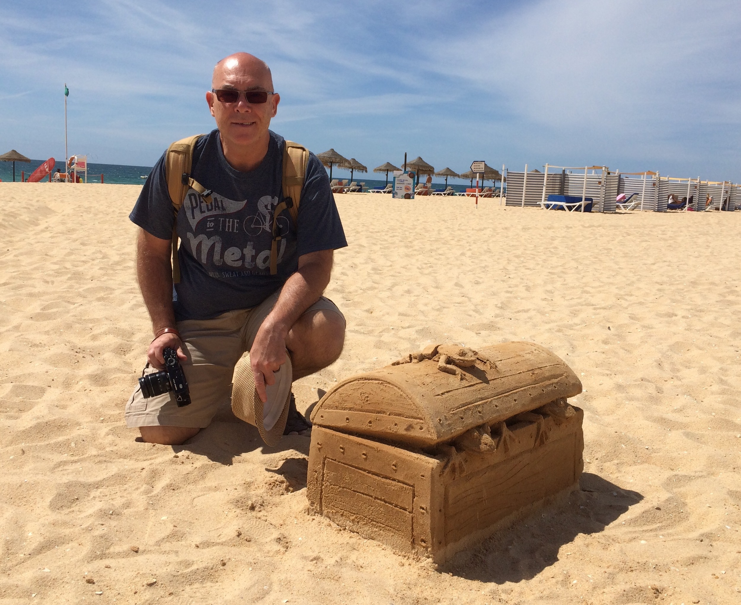 Yours Truly on the Algarve taking a break with the X Pro 1 whilst shooting for Monarch Airlines
