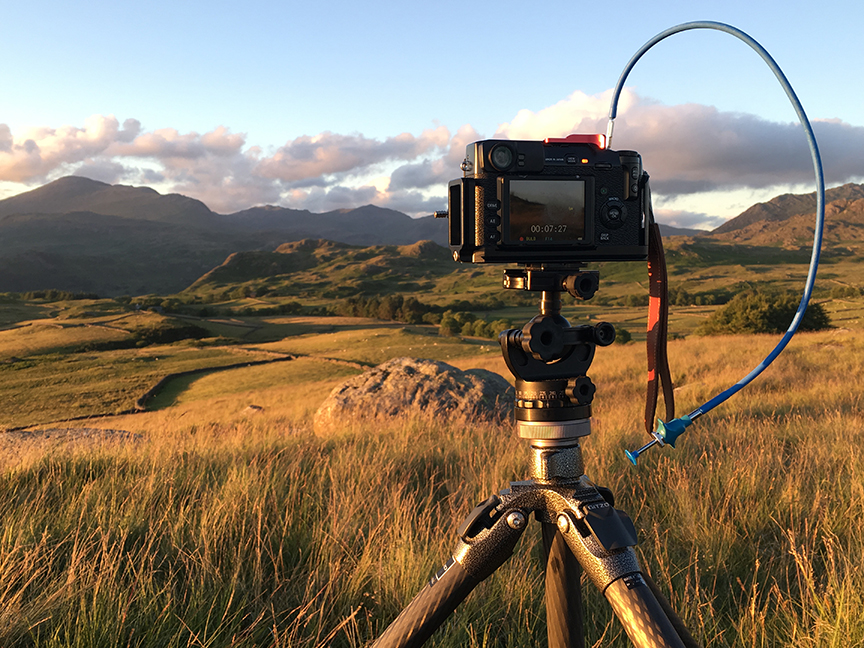 A glorious summers evening on Birker Fell looking at the Scafells
