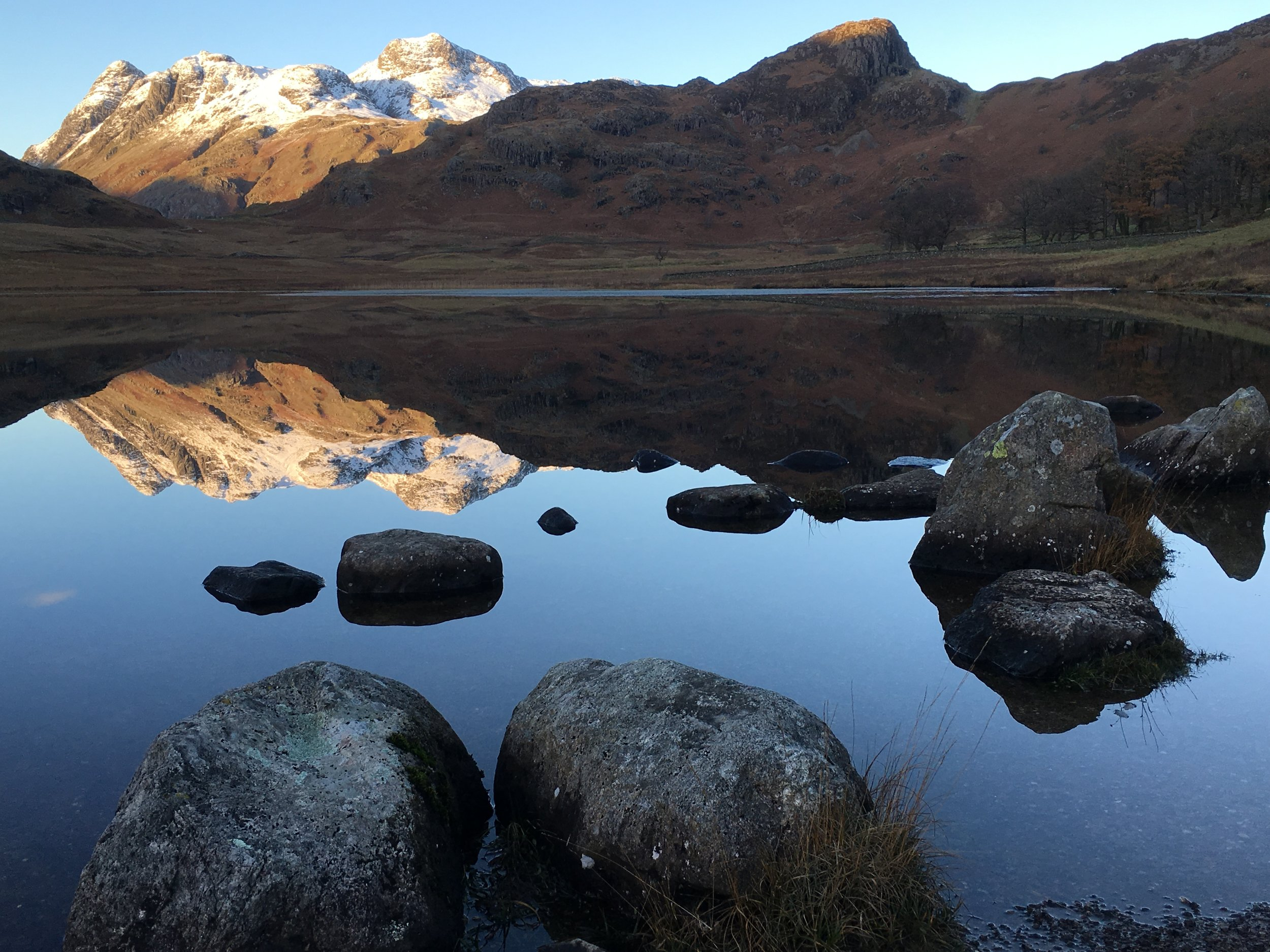 Blea Tarn and 'The Pikes. Screen shot from Lightroom