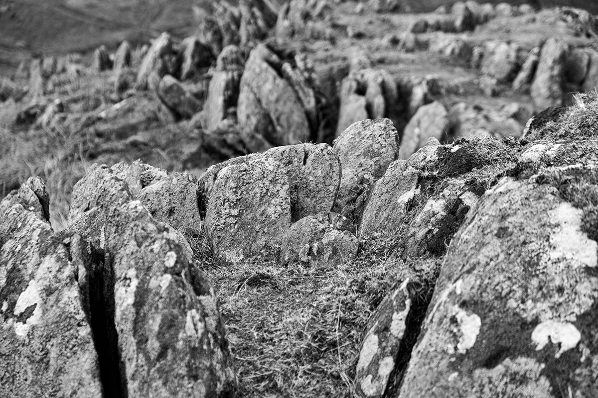 Beautiful rock formations above the Duddon Valley taken with the Fuji mirrorless X Pro 1.