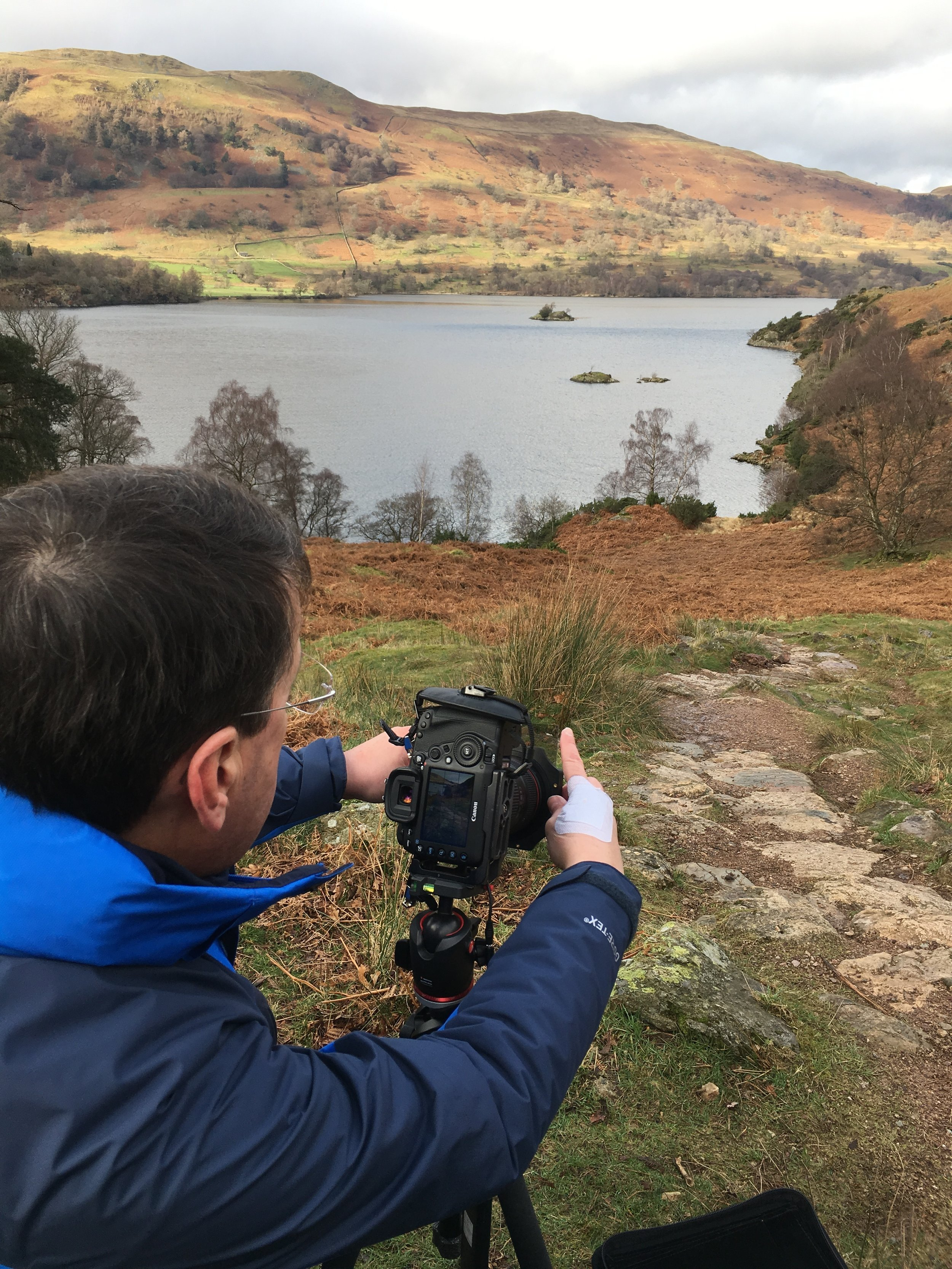 Sheldon concentrating above Ullswater.