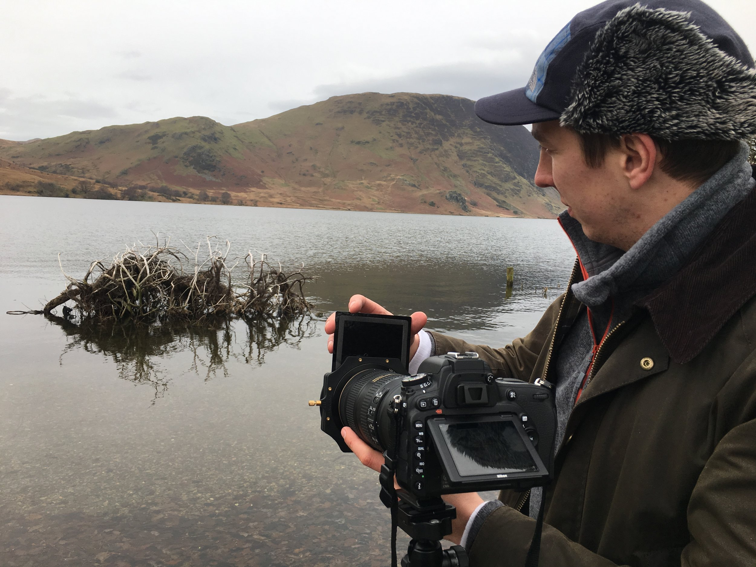 Setting up by Crummock Water