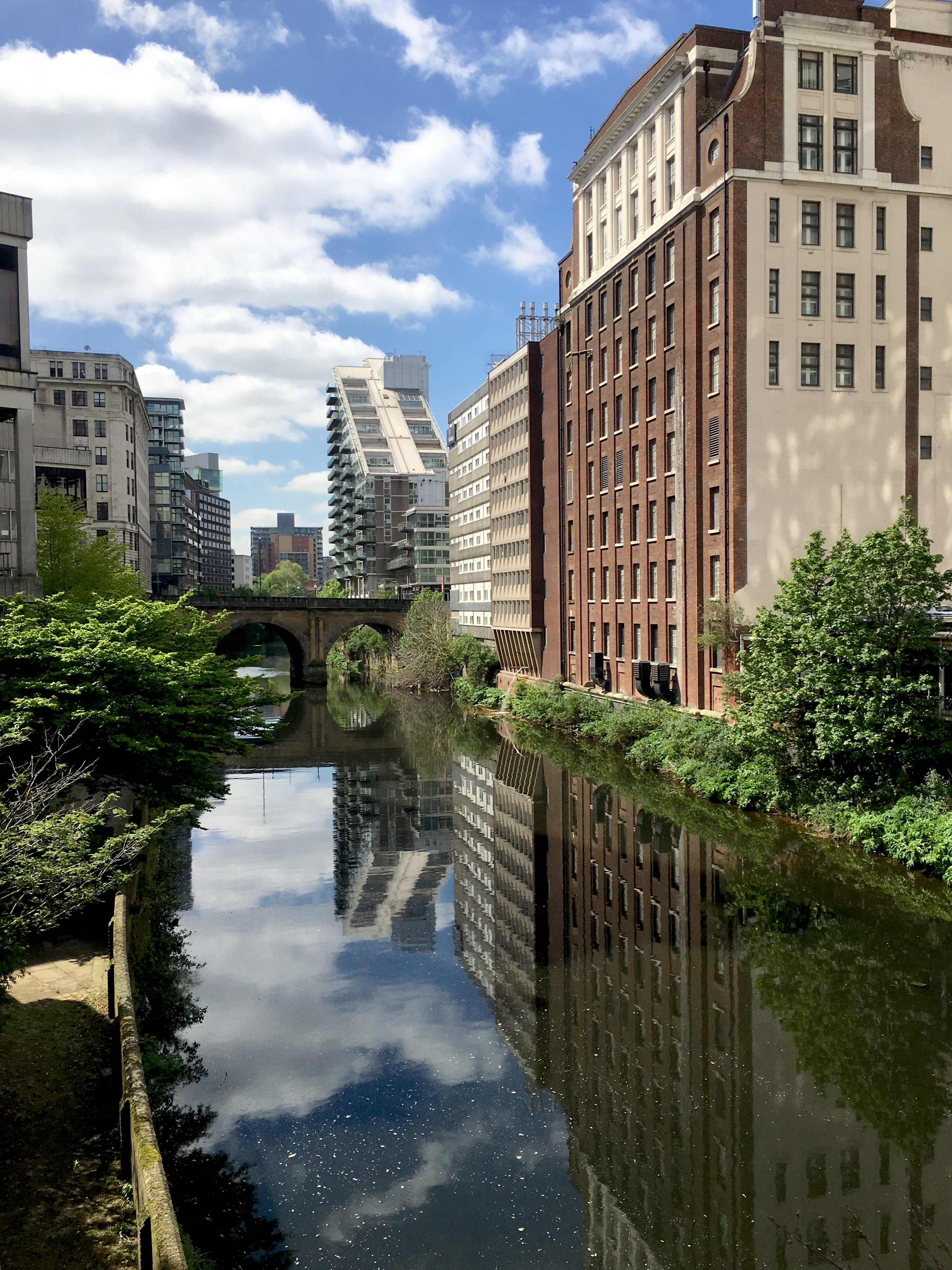 he River Irwell. Dividing Manchester from my home town of Salford