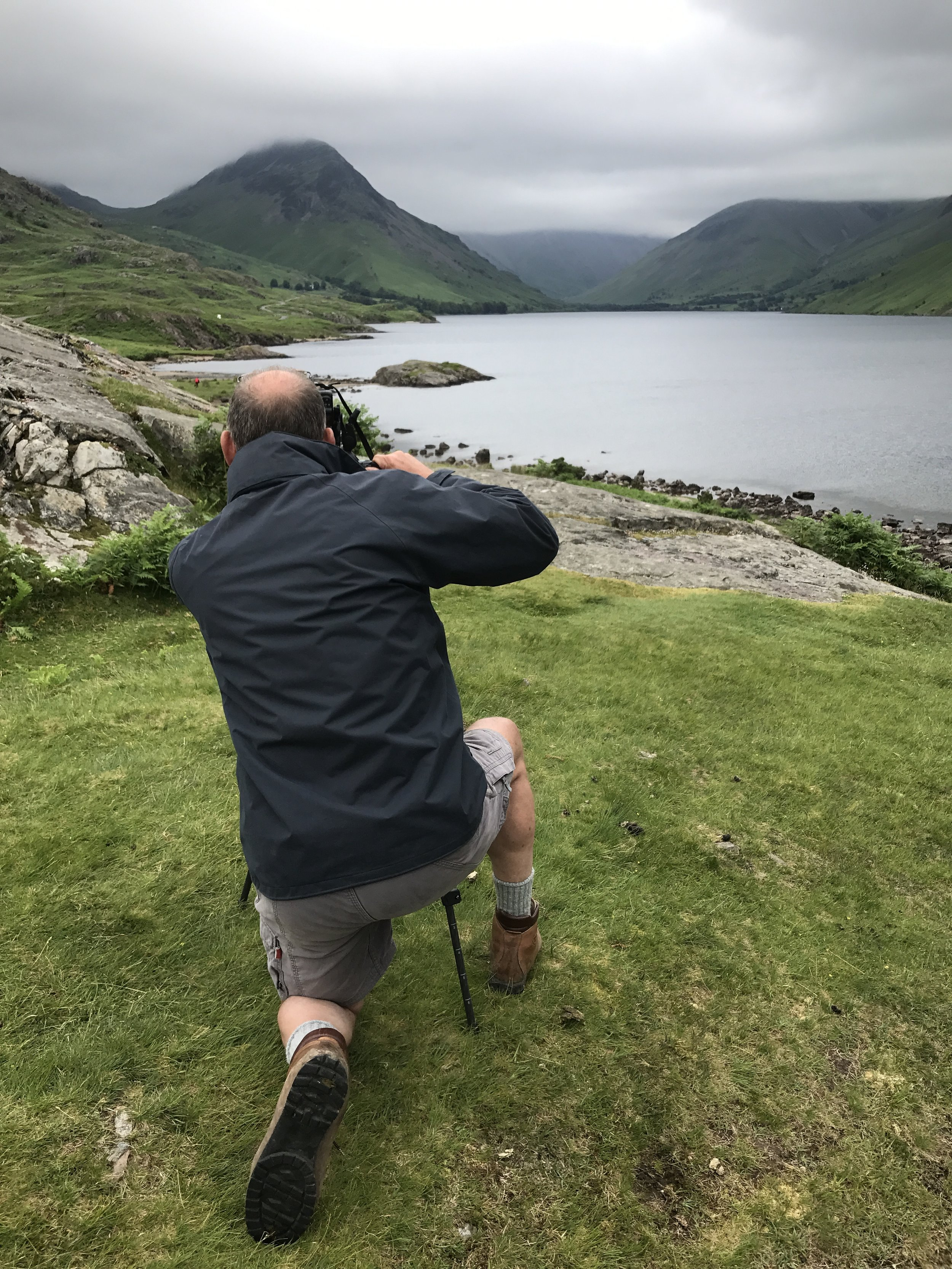 Another 'Mark' assimilating the scene and capturing Wast Water on a less than sunny day.