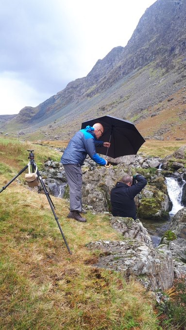 Not a day for the big brolly at Honister as I would still be up there in the ether…..