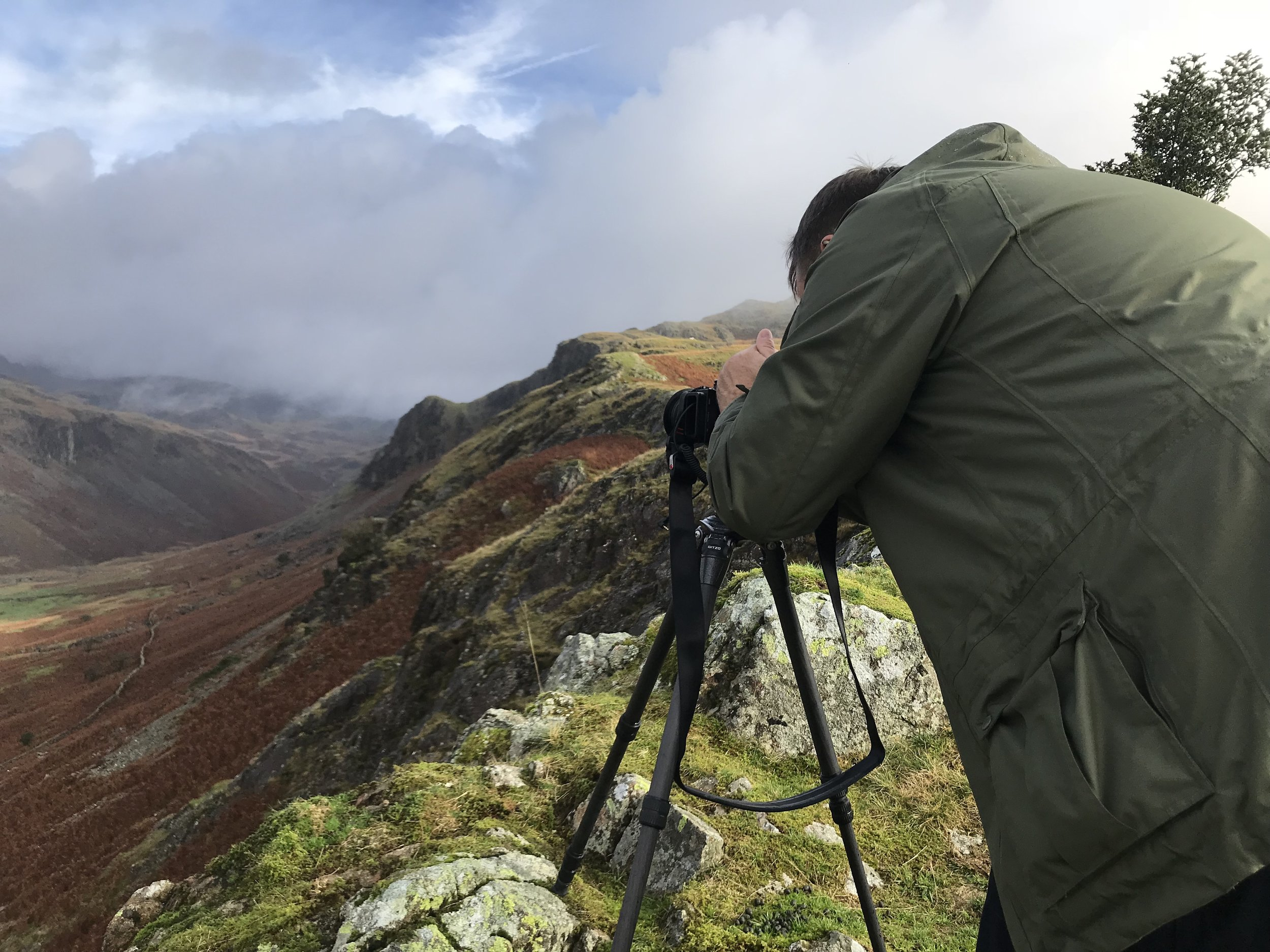 Brian above the Esk. Great light for great photographs!