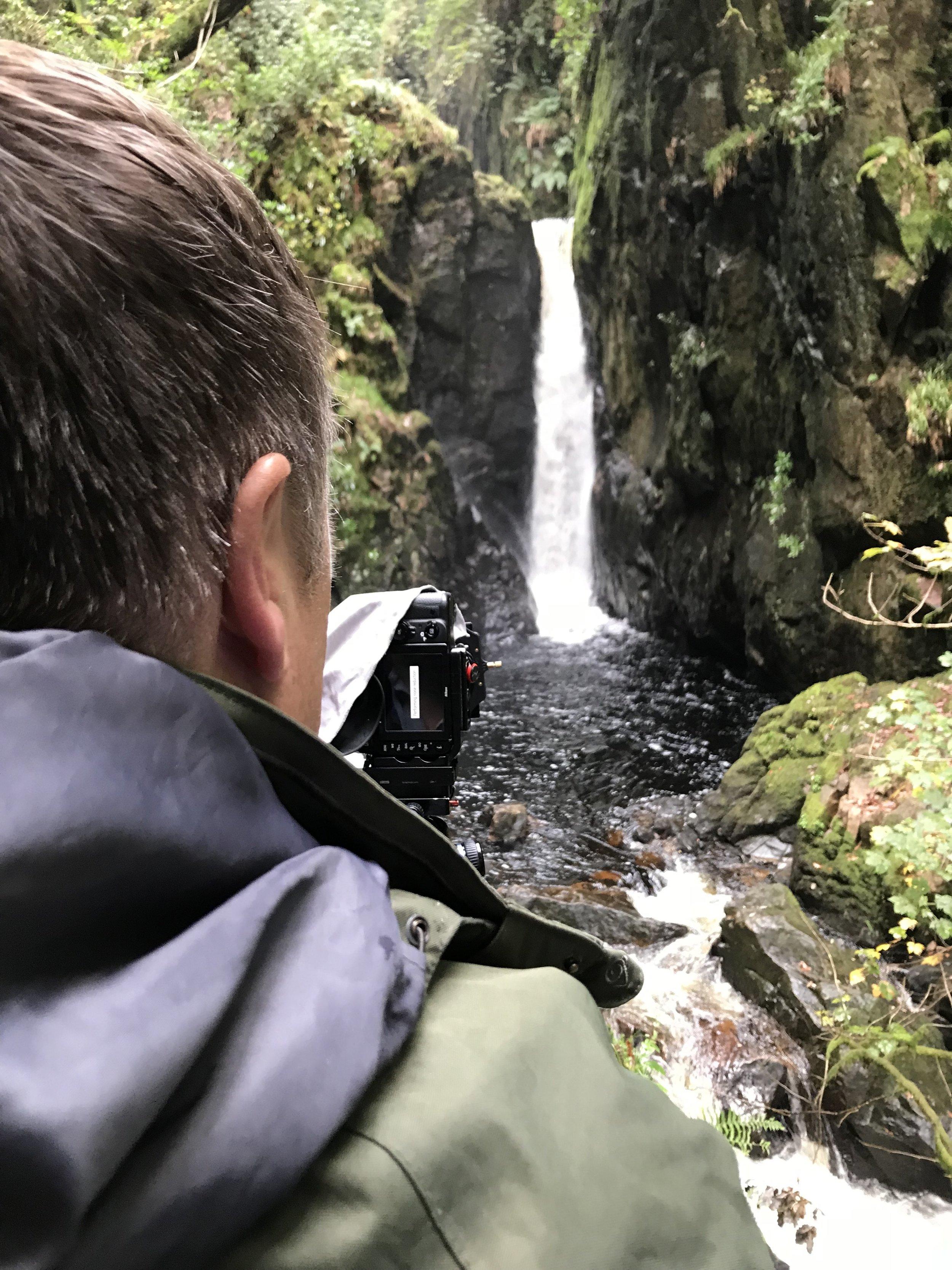 Brian at Dalegarth Falls