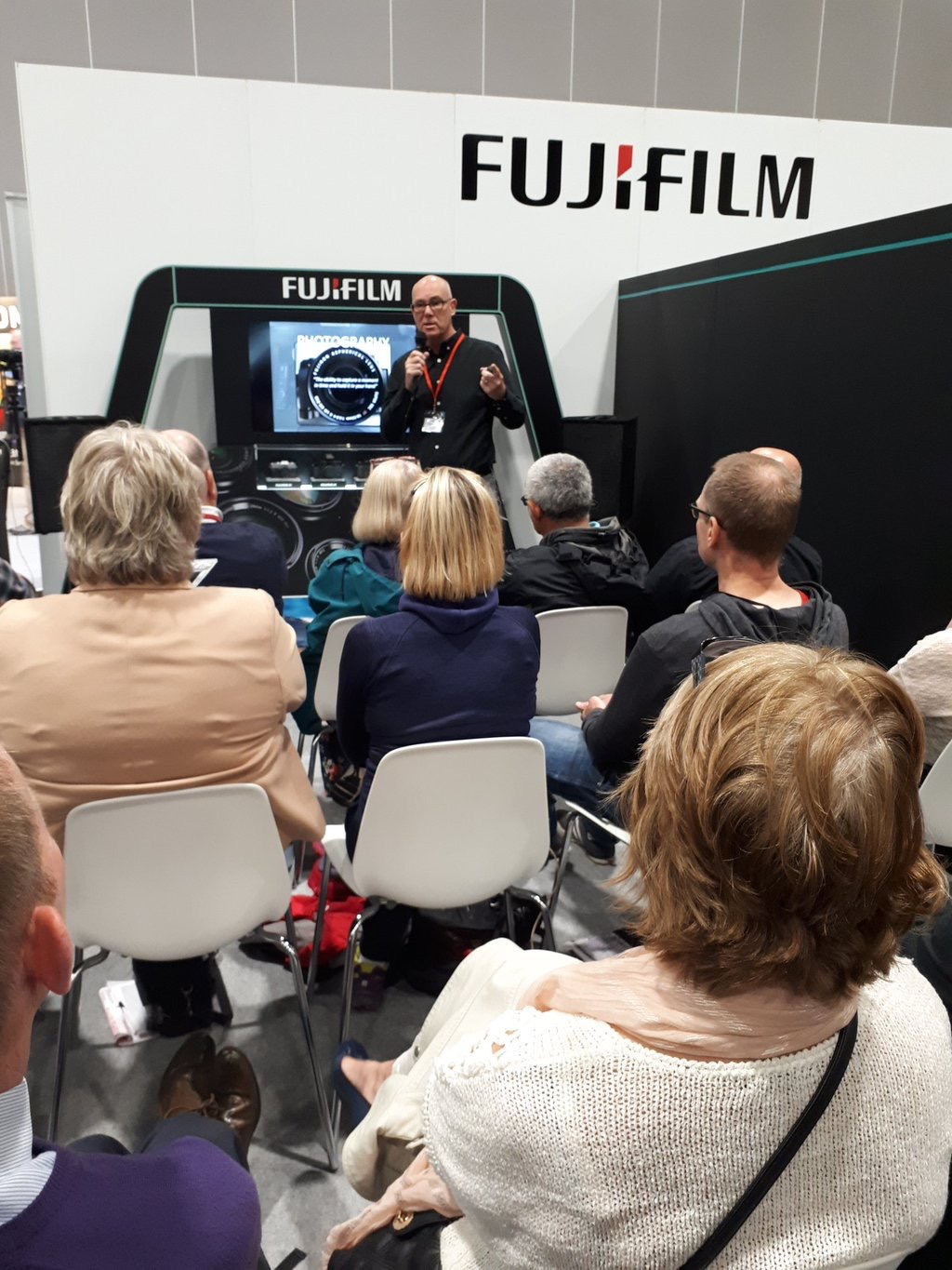 Yours truly on the FUJIFILM stand at DIGITAL SPLASH photo courtesy of  VICKI PROCTER