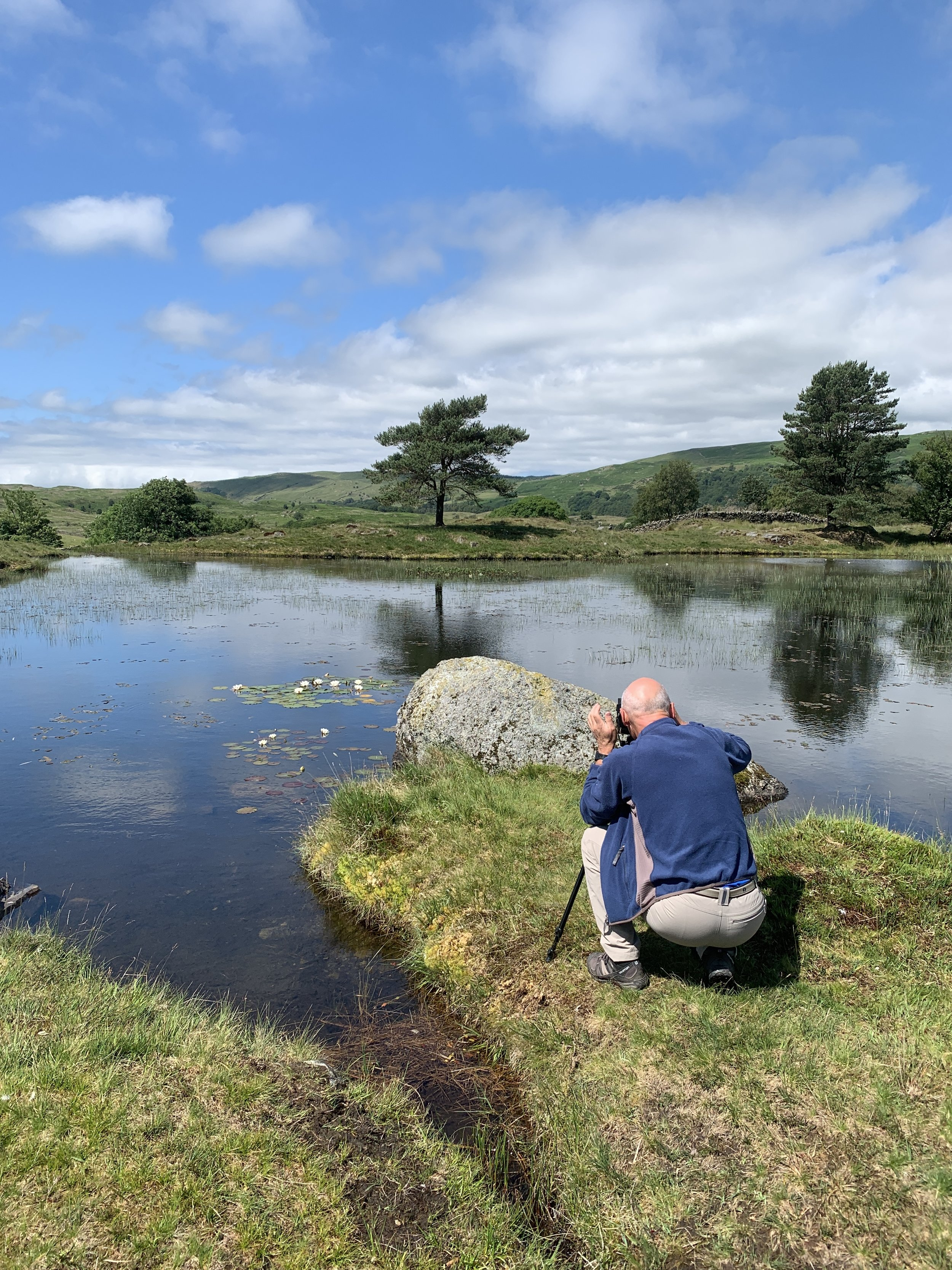 Chas over by Kelly Hall Tarn