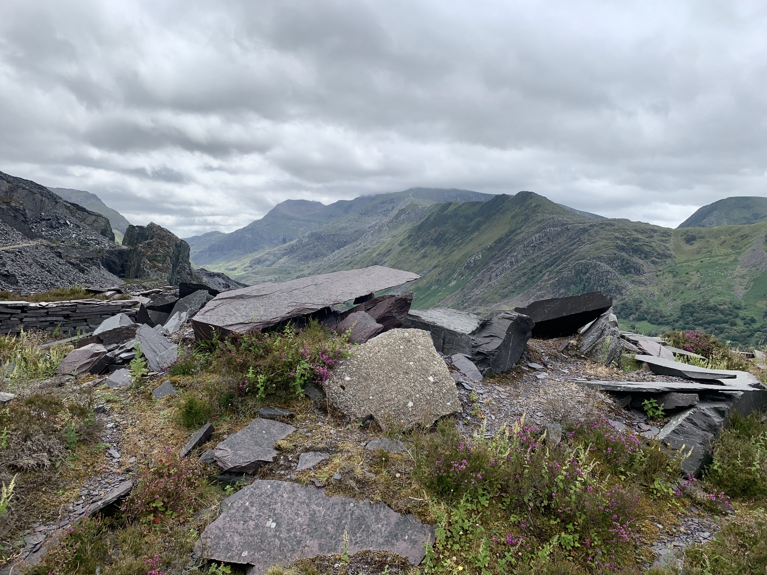 Taken Above Llanberis At Dinorwic This Is An iPhone Shot Looking Towards Snowdon Which Is In Clag