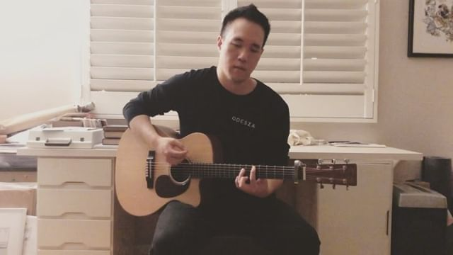 """ODESZA - Falls (SUNKEN VESSELS Acoustic Cover). Link in bio for full vid 🙌🔥🙌 —————————————— For whatever reason, playing covers isn't rly my thing (and yet I enjoy playing other artists' tracks when DJ-ing... oh the irony). So it's truly a rarity when I decide to do a cover. I chose """"Falls"""" bc it has a special place in my heart as it helped me get through some of the most difficult times last year, always reminding me to keep moving forward no matter how bad it gets. Even tho we may feel lost and alone in the darkness, there will always be a light that helps us get through the night. Many thanks to @odesza and @sadgirlsloan for creating such a beautiful song! Excited to share my version of """"Falls"""" w everyone in all its emo glory."""