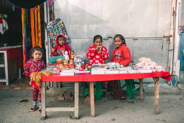 sweet little kids in red