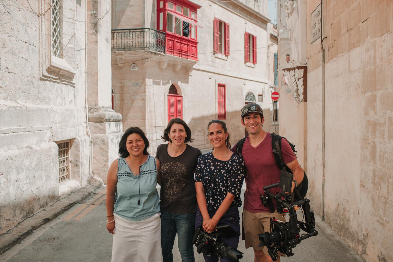 Left to Right: Jackie, me, Deva, Phil