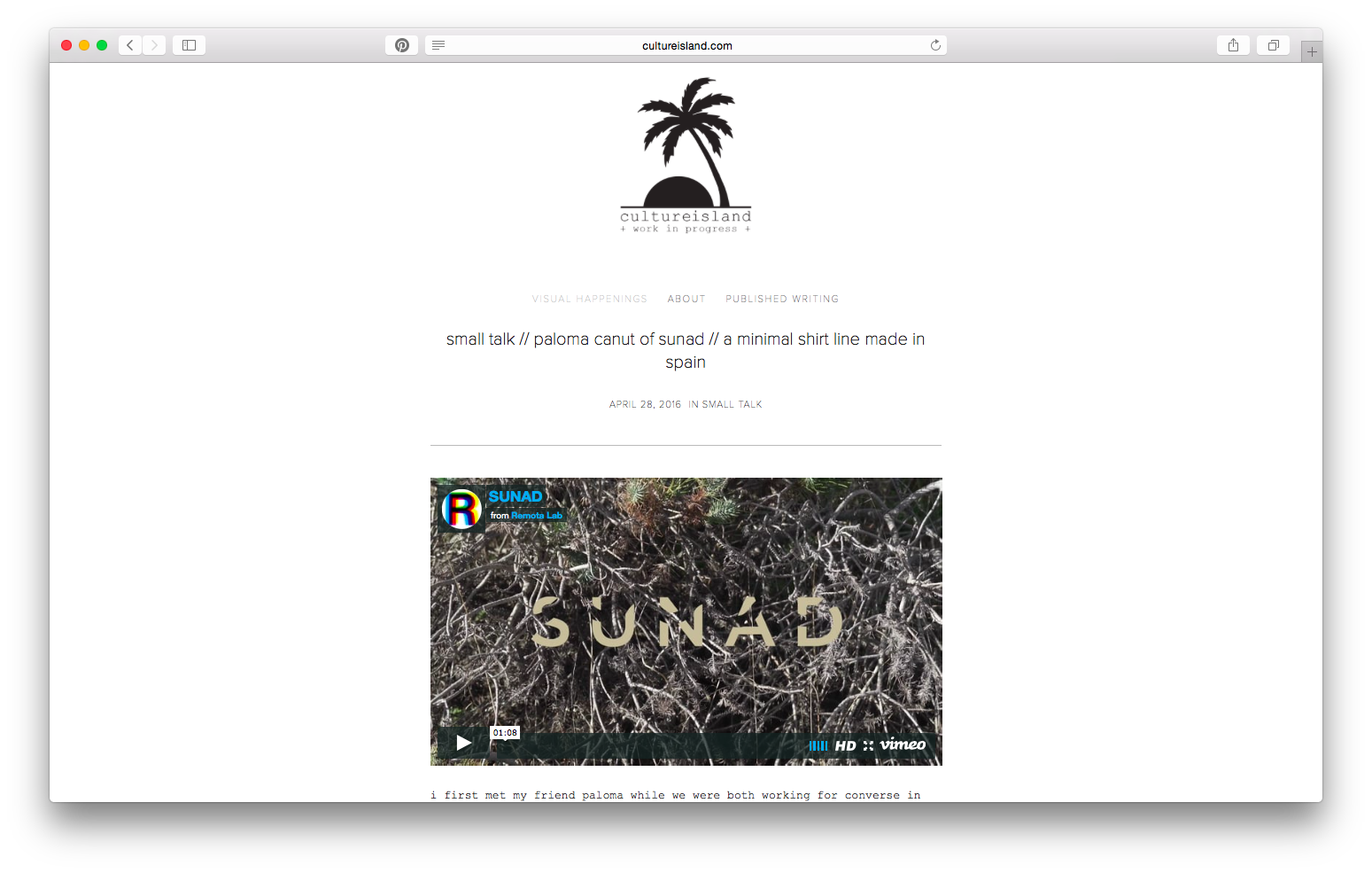 Our background, inspiration and much more revealed. Learn about our story in this  Culture Island  interview.