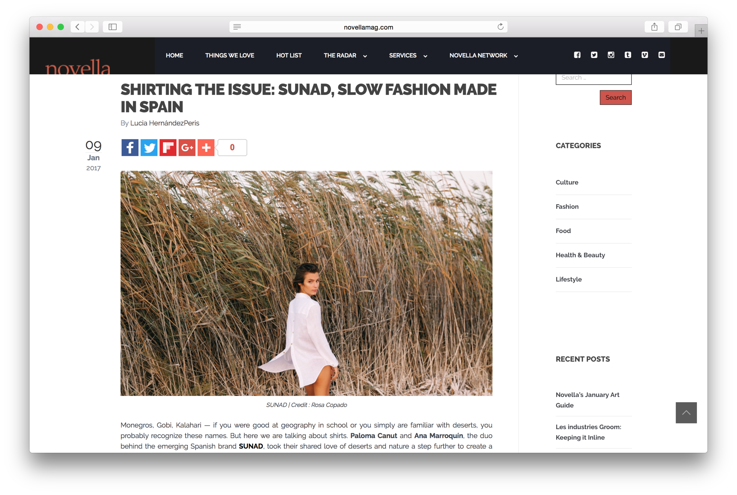 5 things to know about SUNAD on  Novella Magazine