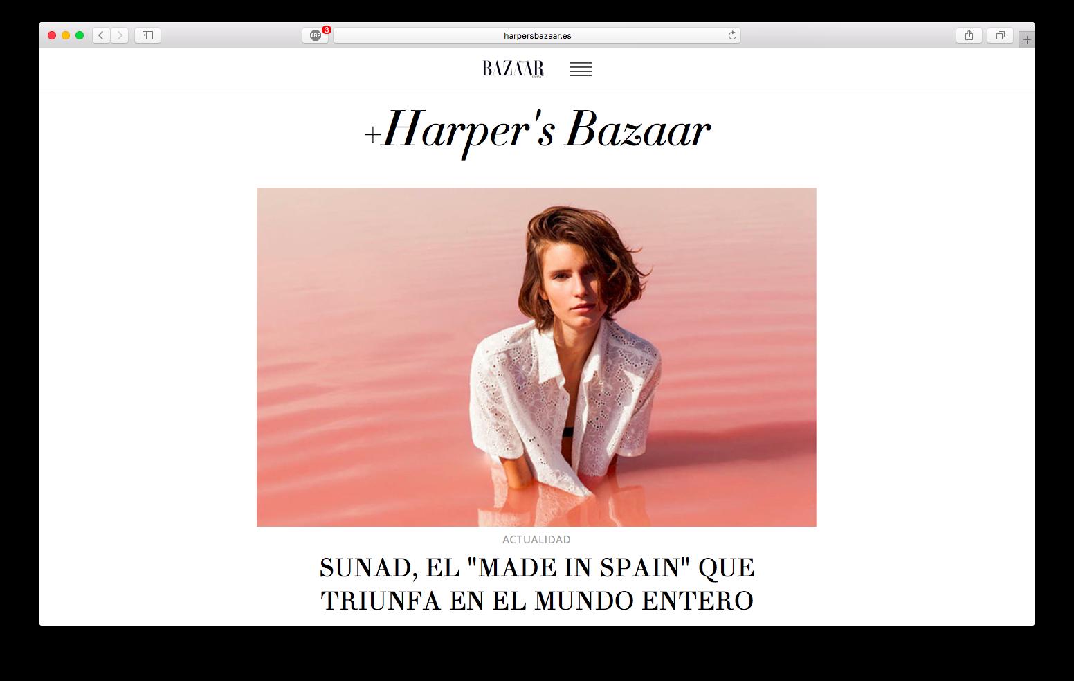 Featured in  Harper's Bazaar Spain