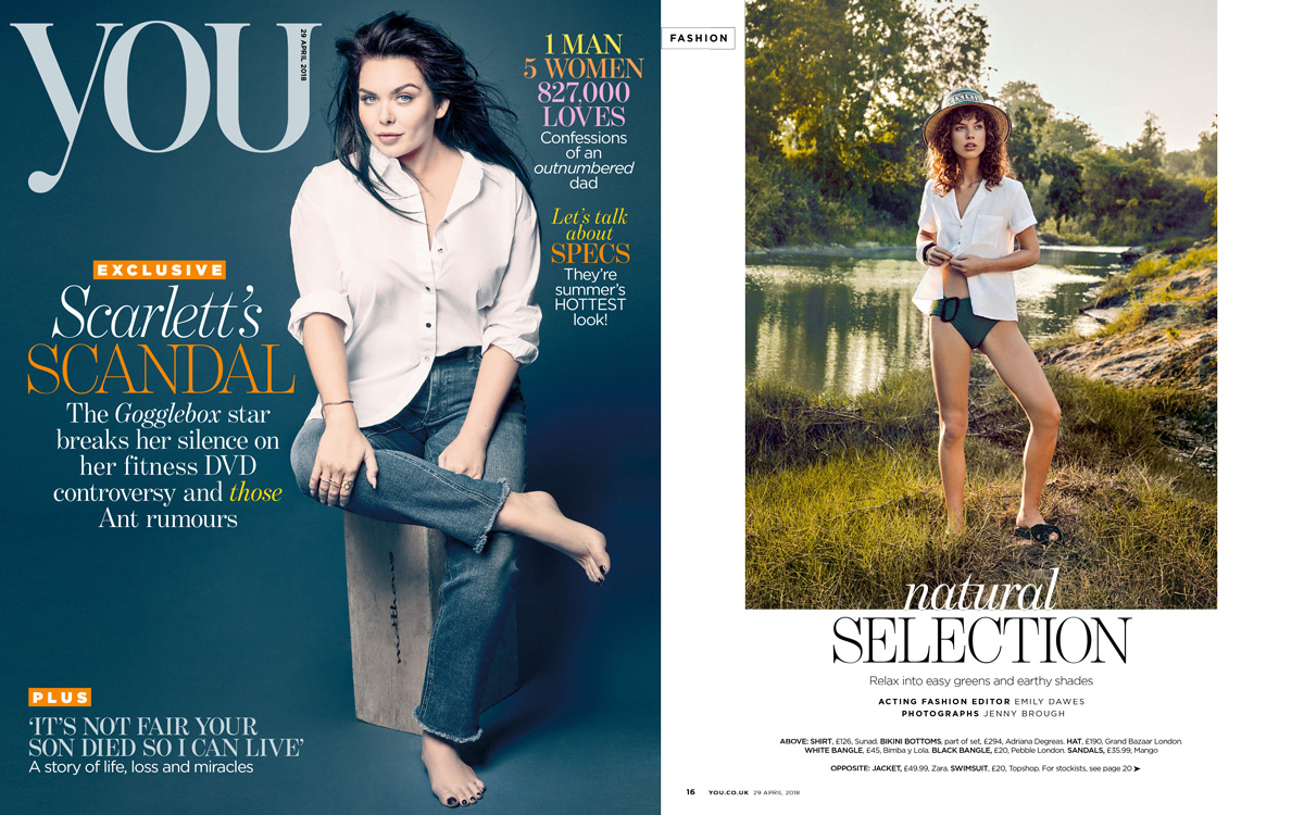 """SS18 Basin White featured in YOU Magazine """"Natural Selection"""" editorial"""
