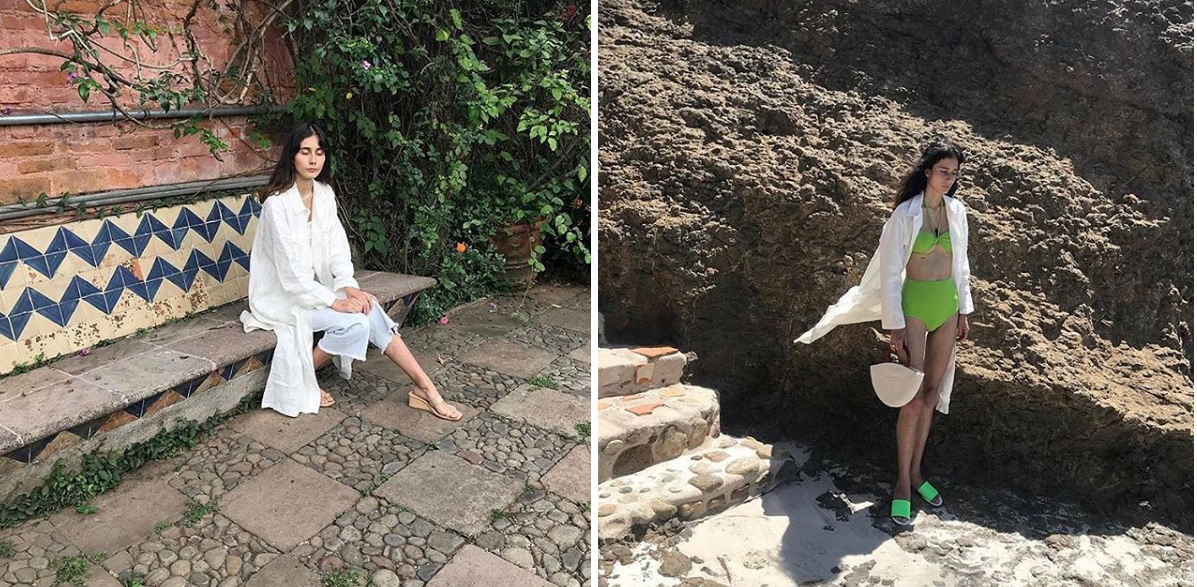 Alexa de la Cruz wears Sunad SS18 Antarctic Stone White