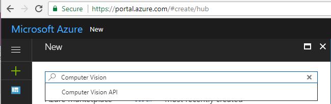 1. Create Computer Vision API