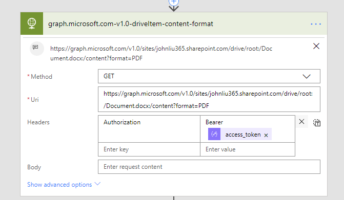 Two ways to convert SharePoint files to PDF via Flow — John Liu  NET