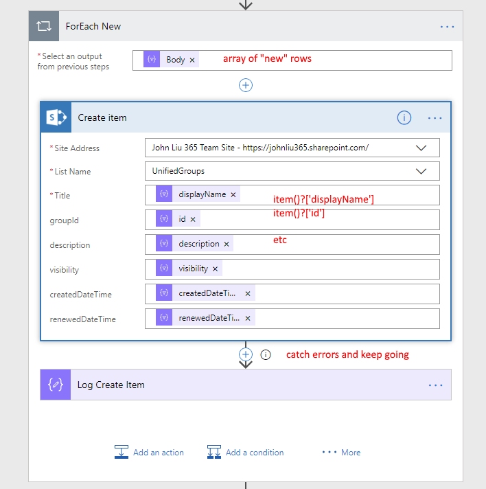 Do bulk insert/update in Microsoft Flow with two simple elegant