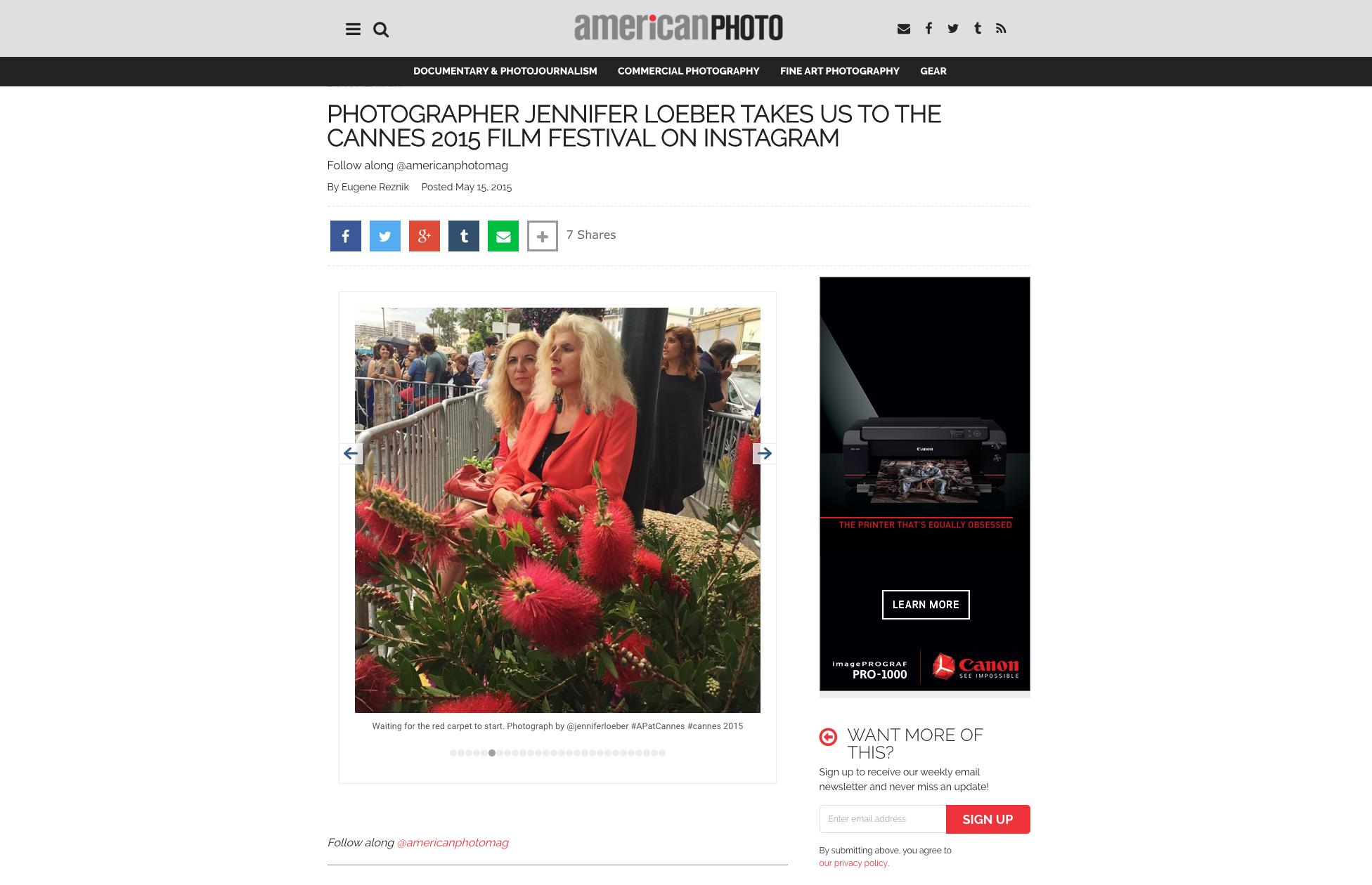 American Photo Magazine, May 2015