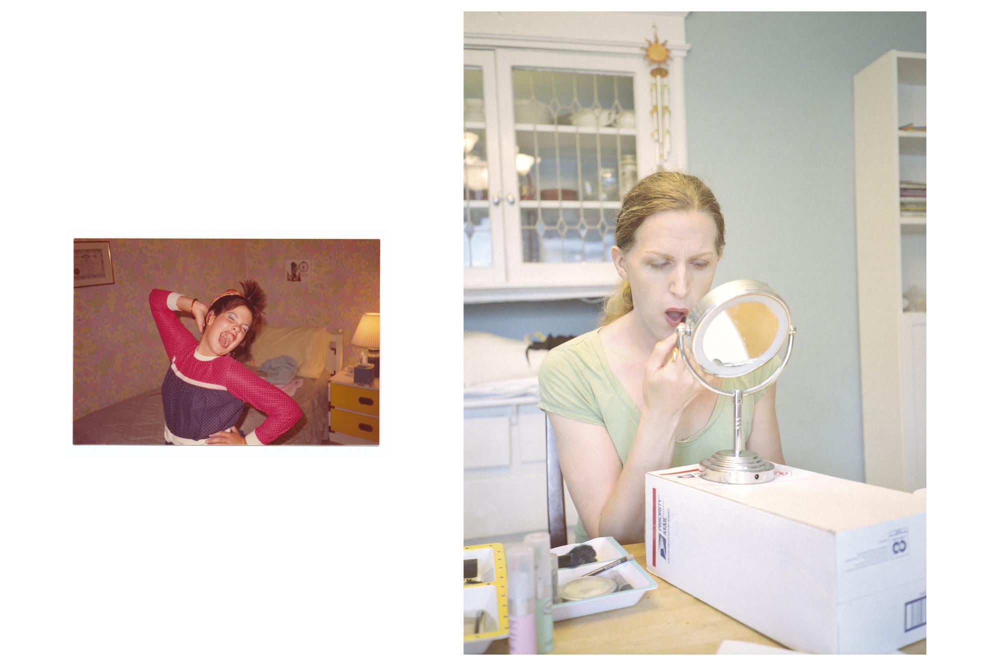 Jennifer (age 10), imitating Cyndi Lauper  Lorelei, making cosmetic choices / 2012