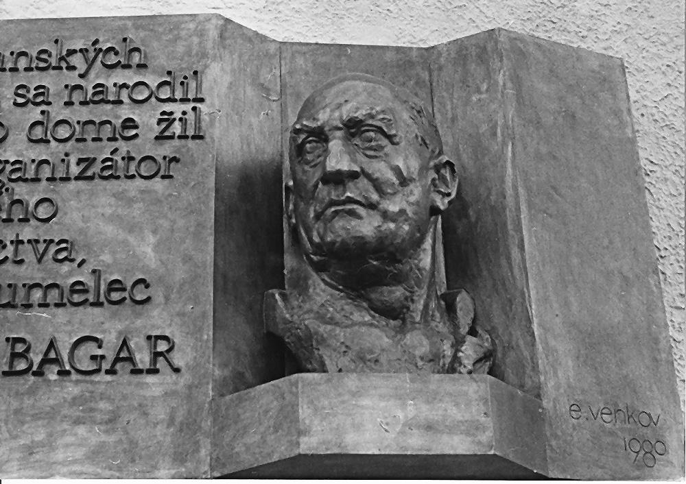 Andrej Bagar Memorial     bronze Trenčianske Teplice 1984 170 x 90 cm