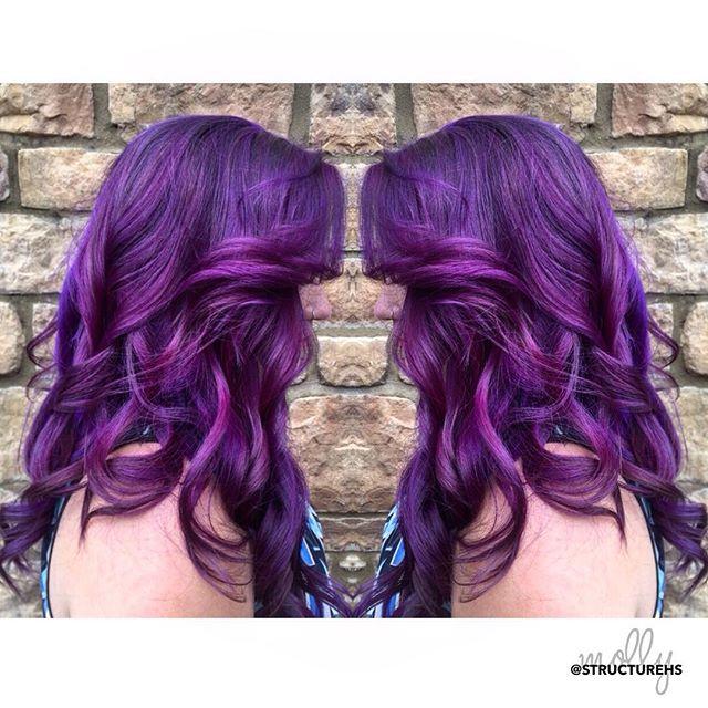 💜 PURPLE HAZE 💜 by Molly { @mollyj129 } #purplehair #structurehs