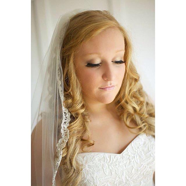 Bridal hair & makeup by Brittany { @brittanyverke } #bridalhair #bridalmakeup #northGAwedding #lashes