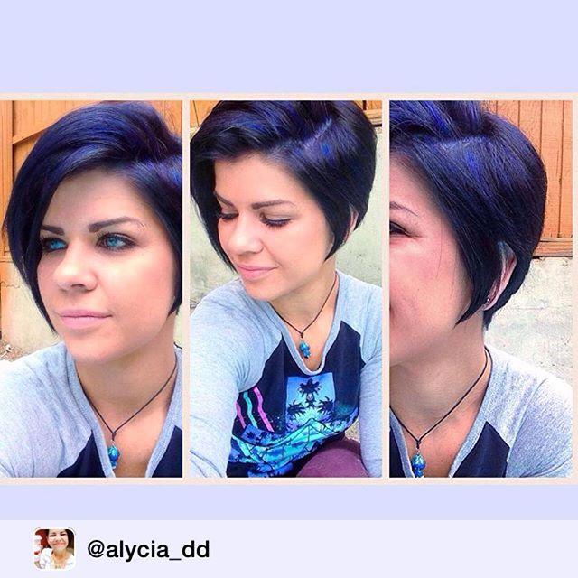 Isn't she Blue-tiful? By SHS Stylist, Emily @emss1227 . 💙 [ HAIR  SHARE @alycia_dd ]  #newhair #blurple #iloveit #structurehs #bluehair #purplehair #hair 💙💜